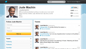 Jude Machin Twitter Screenshot Obama avatar