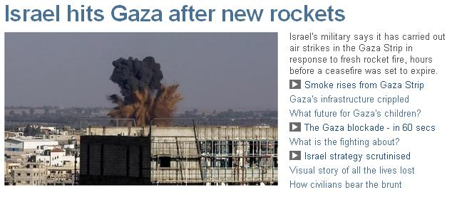 bbc headline israel